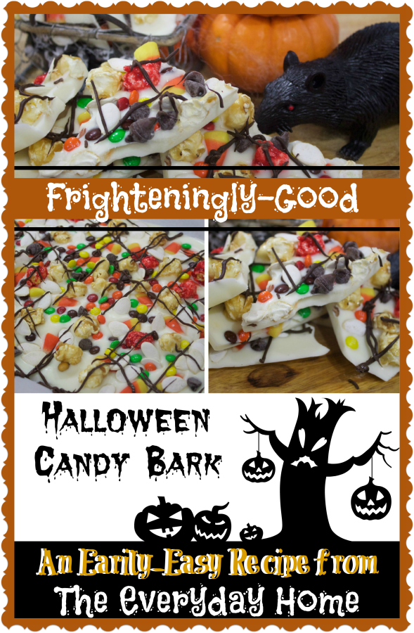 Frighteningly Good Halloween Candy Bark | The Everyday Home | www.everydayhomeblog.com
