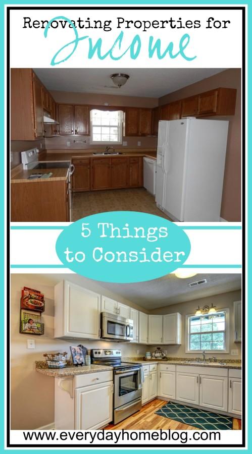 Renovating Properties for Income | The Everyday Home | www.everydayhomeblog.com