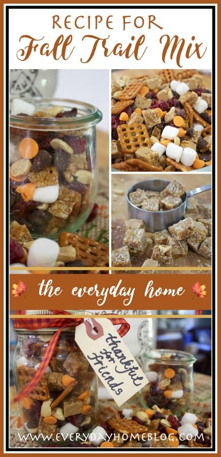 Trail Mix Recipe for Fall | The Everyday Home | www.everydayhomeblog.com