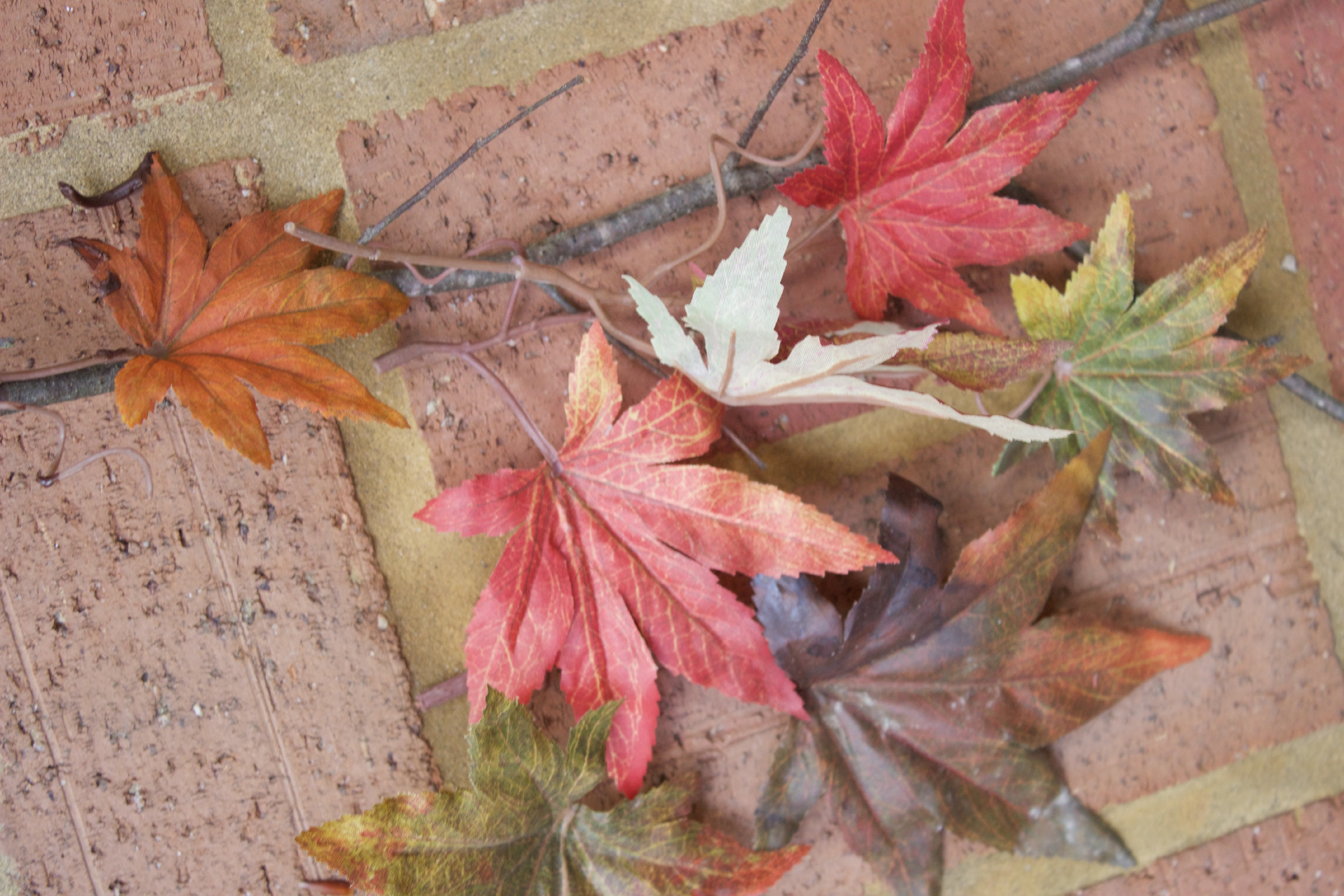 Using Faux Leaves to Make Fall Branches | The Everyday Home | www.everydayhomeblog.com