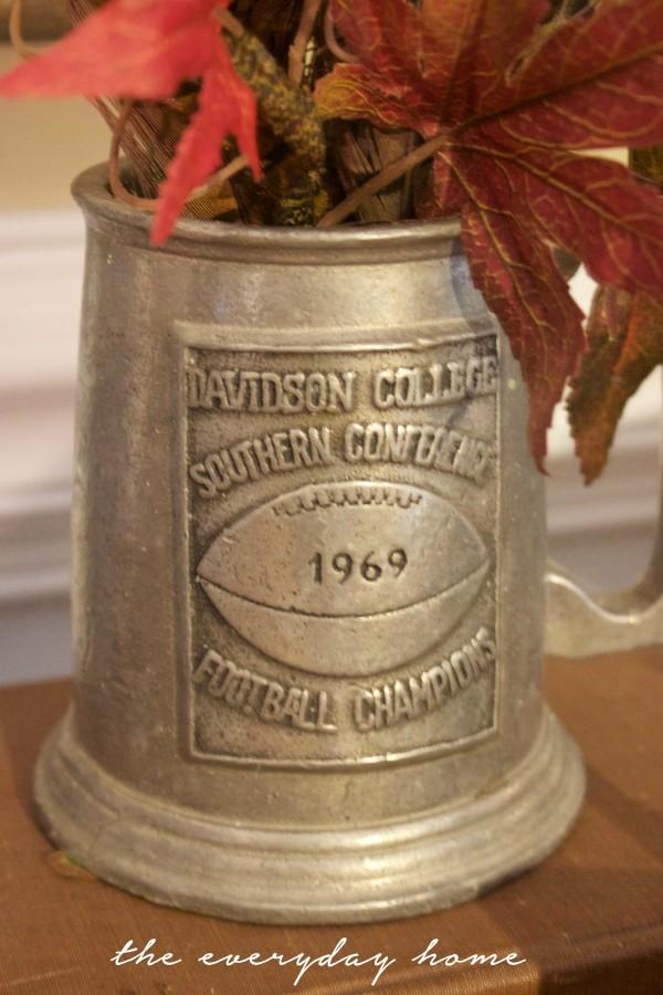 Vintage Silver Trophy Mug | Traditional Fall Sideboard | The Everyday Home | www.everydayhomeblog.com