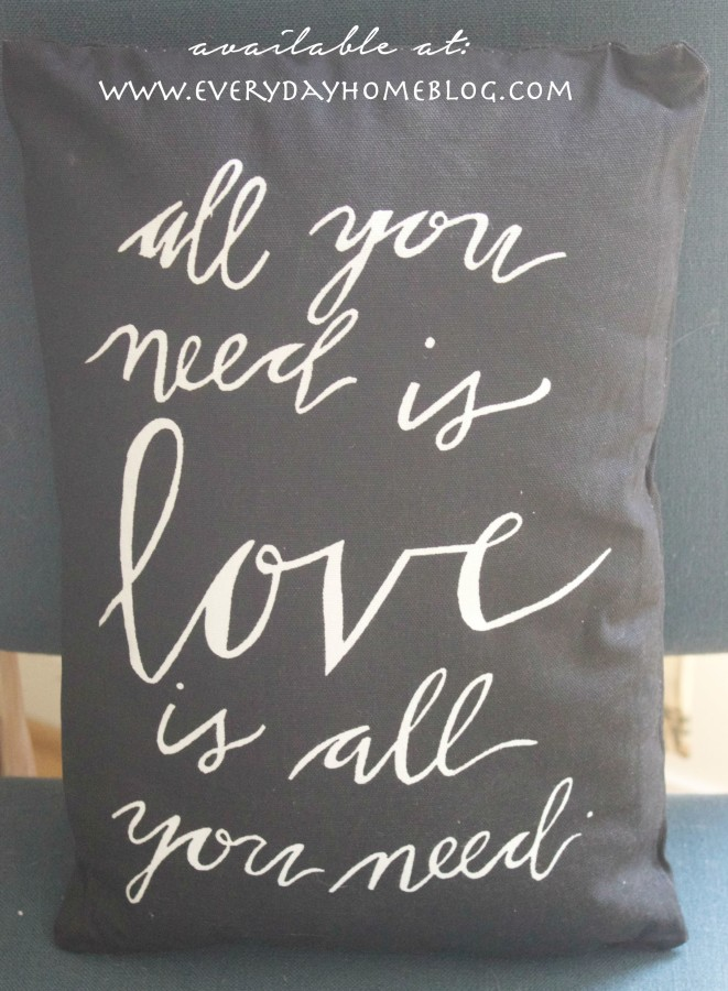 All You Need Is Love Pillow | Available at The Everyday Home Shop | www.everydayhomeblog.com/shop
