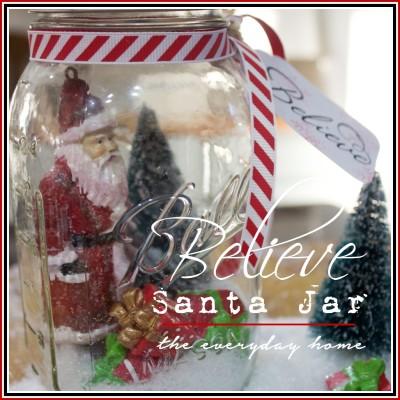Mason Jar Believe Santa