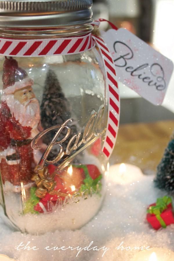 Believe Santa in a Mason Jar | The Everyday Home | www.everydayhomeblog.com