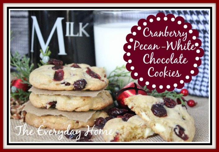 Cranberry-Pecan-White Chocolate Cookies | The Everyday Home | www.everydayhomeblog.com