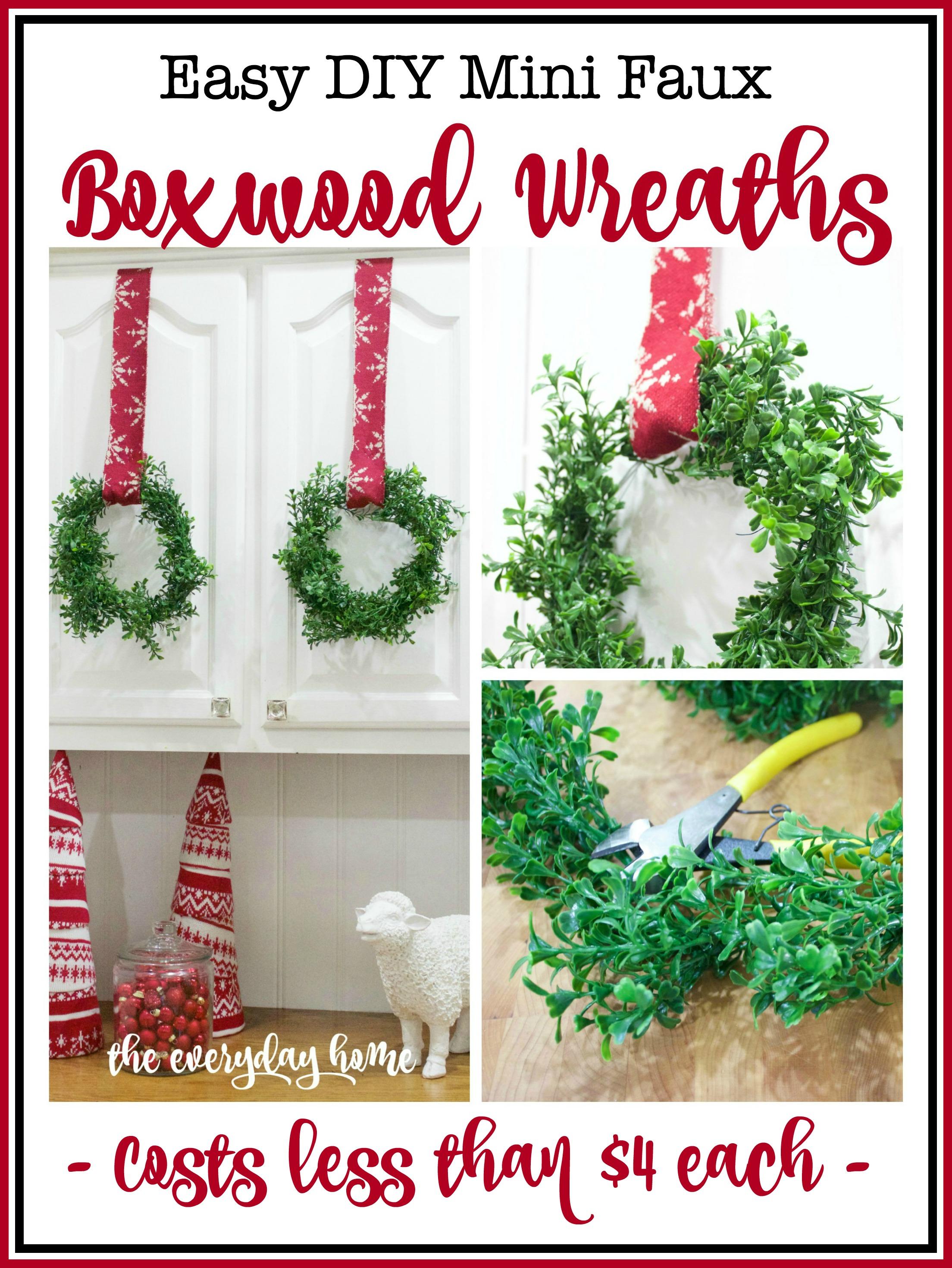 DIY Boxwood Wreaths The Everyday