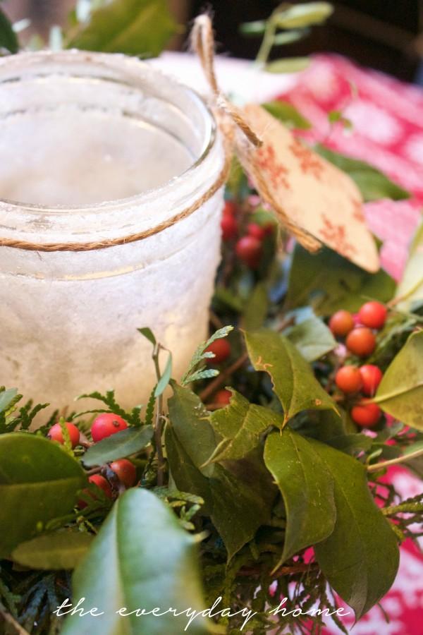 DIY Iced Mason Jar | The Everyday Home | www.everydayhomeblog.com