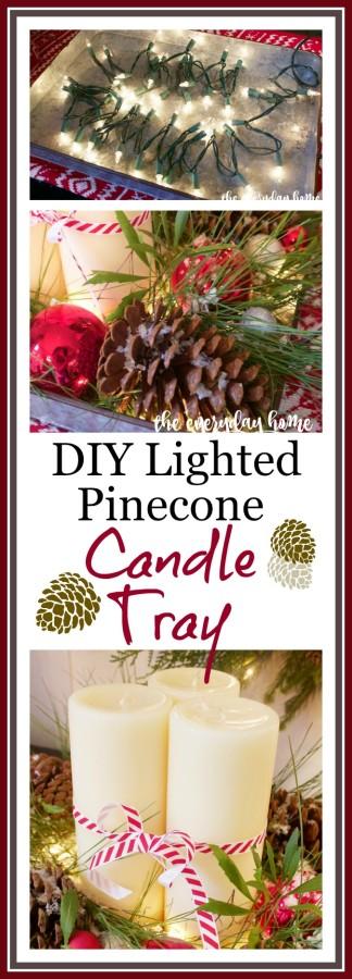 DIY Lighted Candle Tray | The Everyday Home | www.everydayhomeblog.com