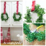 DIY Mini Faux Boxwood Wreaths