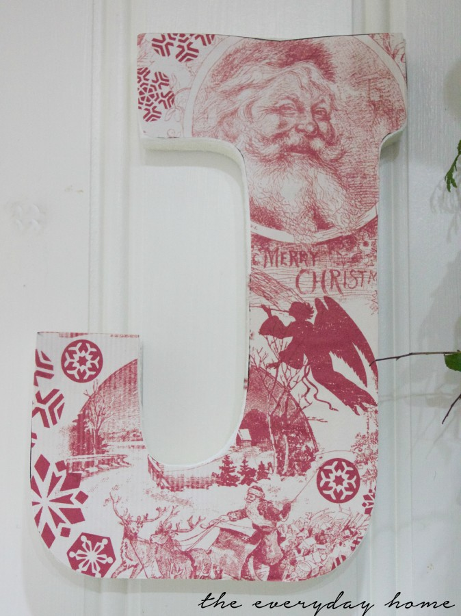 DIY Paper Covered Wood Letters   The Everyday Home   www.everydayhomeblog.com