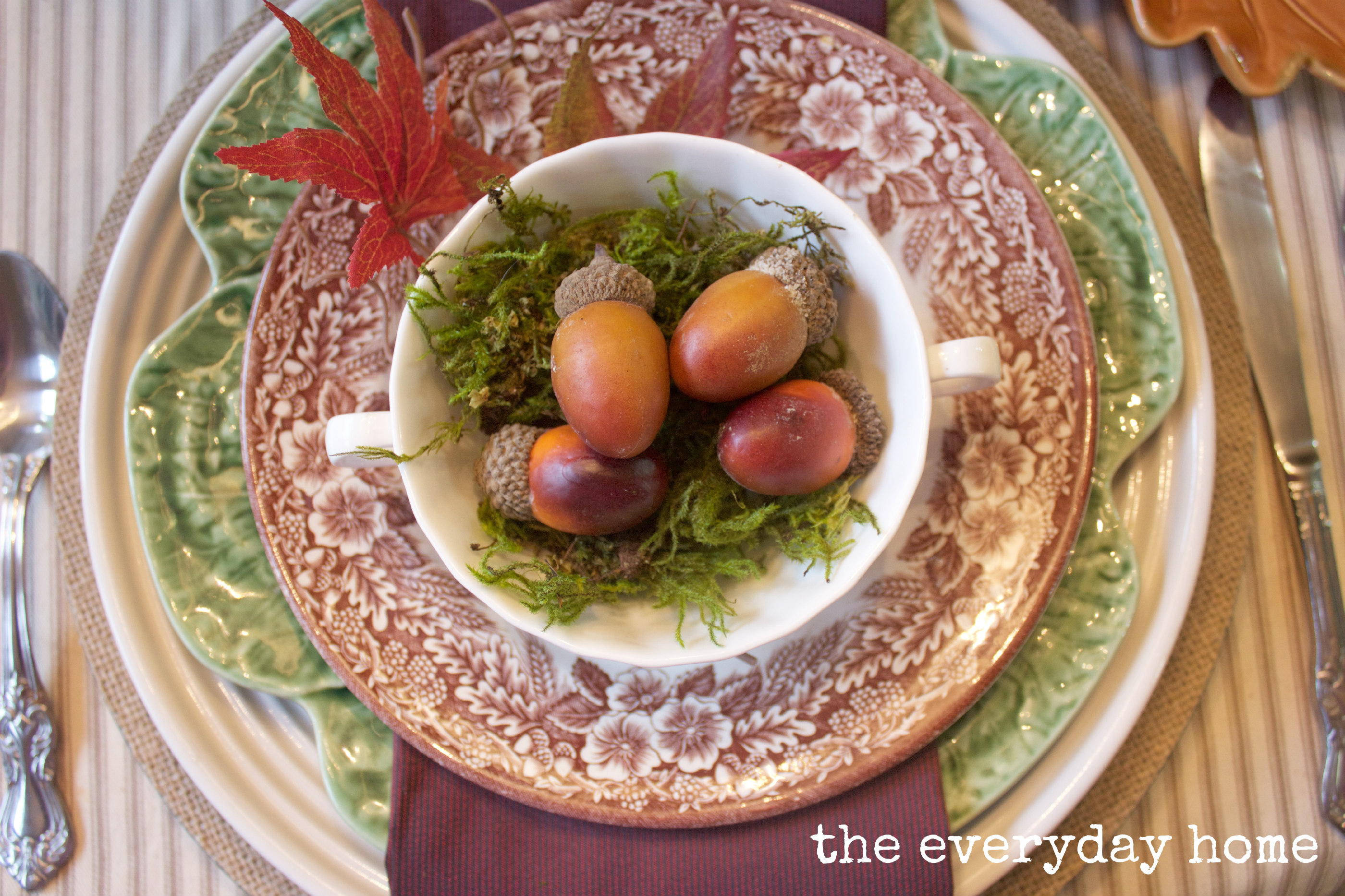 Esy Fall Placesetting The Everyday Home www.everydayhomeblog.com
