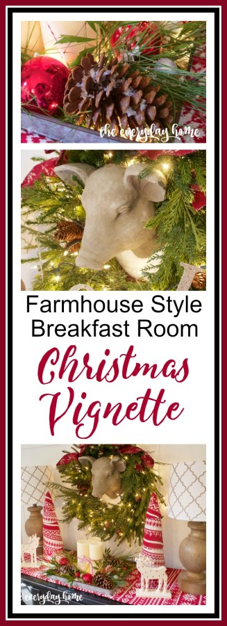 Farmhouse Christmas Vignette | The Everyday Home | www.everydayhomeblog.com