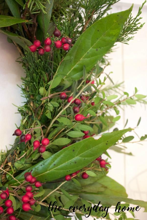 How to Make an Evergreen Wreath   The Everyday Home Blog   www.everydayhomeblog.com