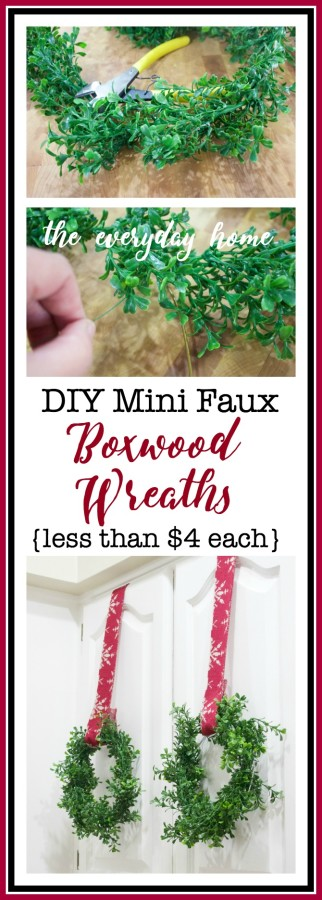 Make Your Own Mini Faux Boxwood Wreaths | The Everyday Home | www.everydayhomeblog.com
