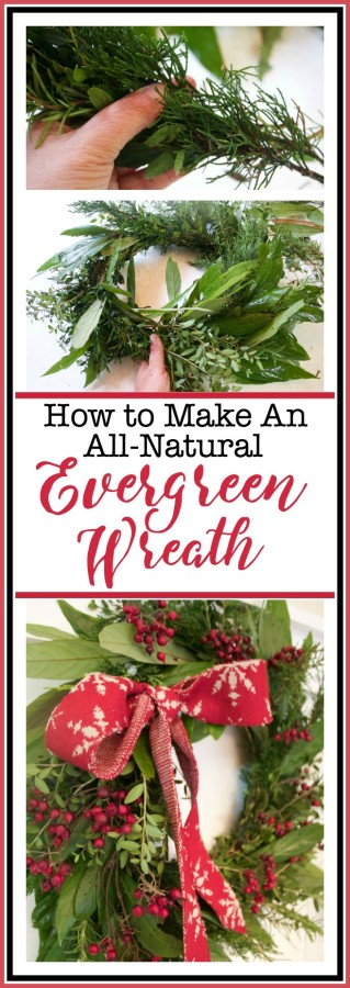 Making an All-Natural Evergreen Wreath   The Everyday Home   www.everydayhomeblog.com