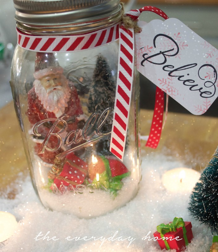 Beleive Santa in a Mason Jar | The Everyday Home | www.everydayhomeblog.com