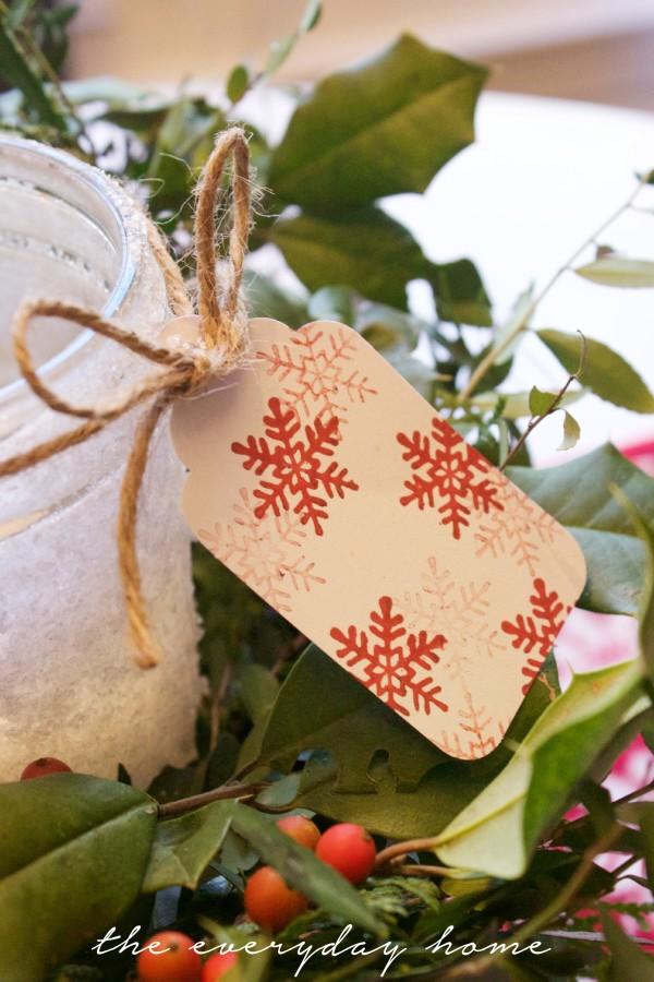 Snowflake Stamped Tag | The Everyday Home | www.everydayhomeblog.com