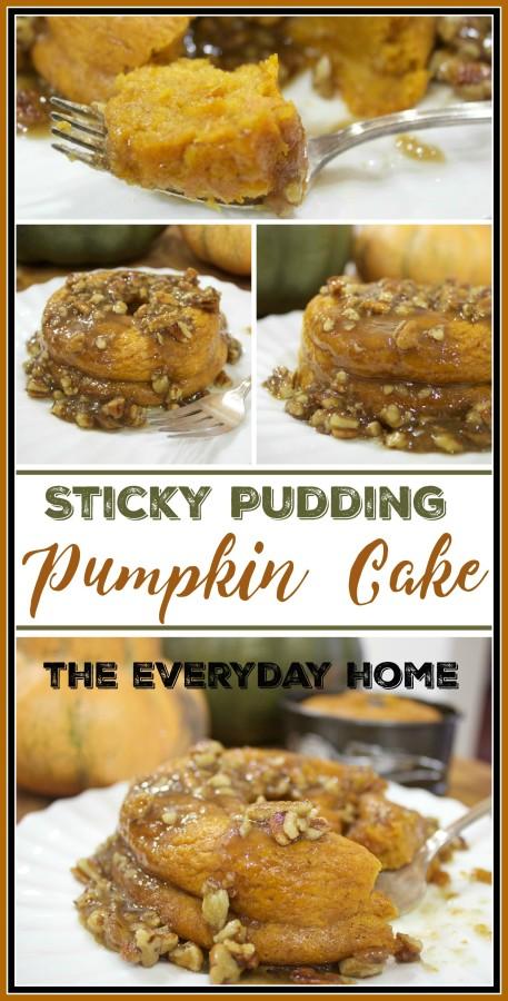 Sticky Pudding Pumpkin Cake | The Everyday Home | www.everydayhomeblog.com