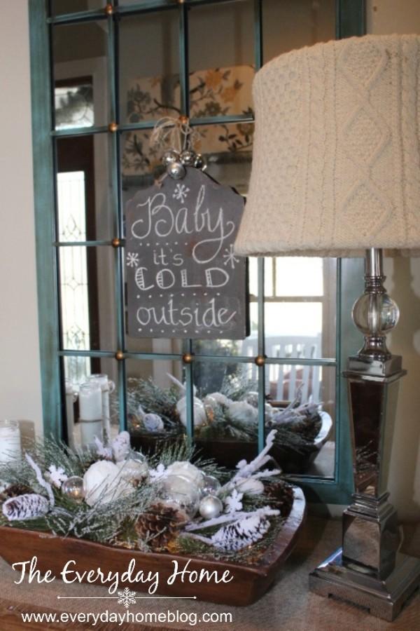 No Sew Sweater Lampshade | The Everyday Home | www.everydayhomeblog.com