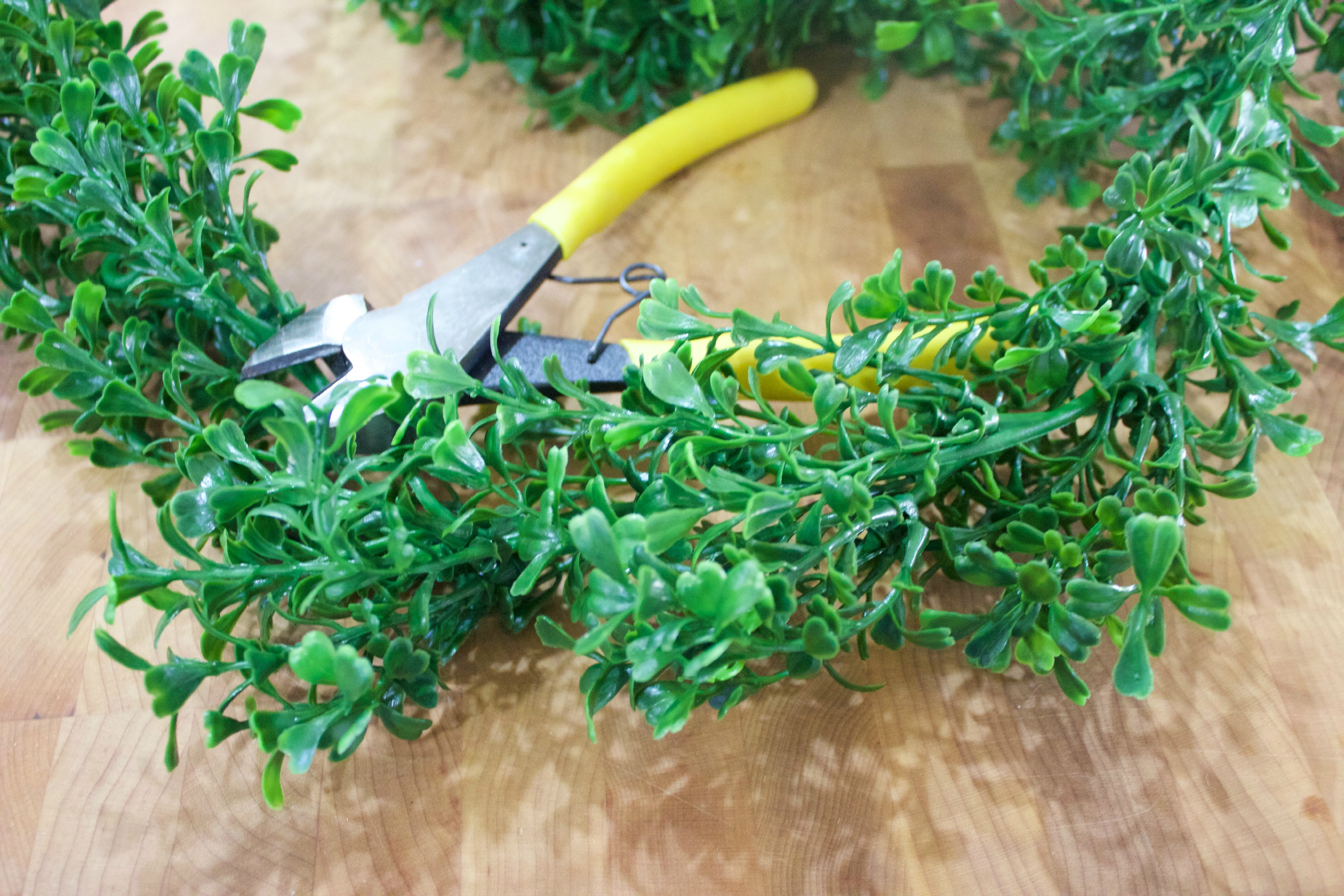 faux boxwood garlands