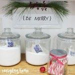 DIY Be Merry Plate