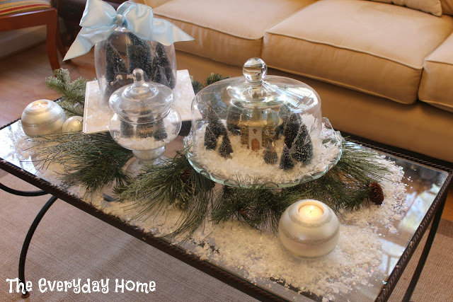 Cake Plate Snow Village | The Everyday Home