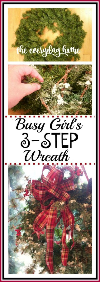 Busy Girl's 3 Step Wreath | The Everyday Home | www.everydayhomeblog.com