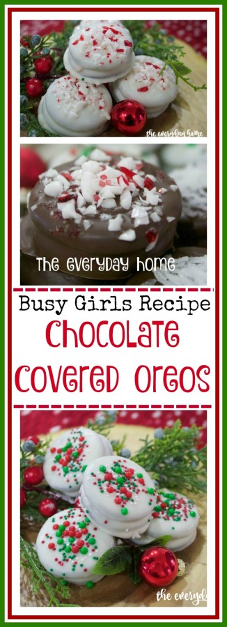 Busy Girls Recipe Chocolate and Peppermint Oreos | 2015 Christmas Cookie Exchange | The Everyday Home | www.everydayhomeblog.com