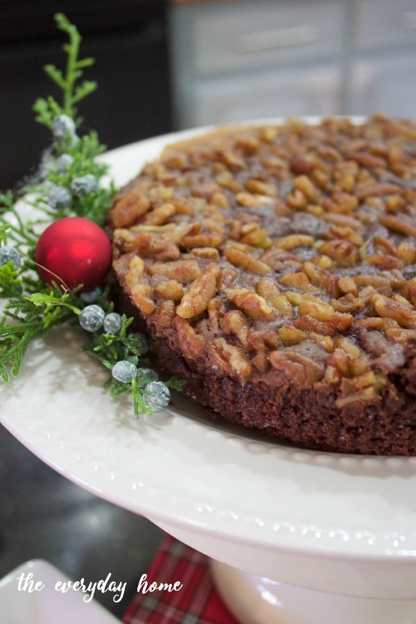 Chocolate Bourbon Pecan Tart | Matthews 1812 House | www.everydayhomeblog.com