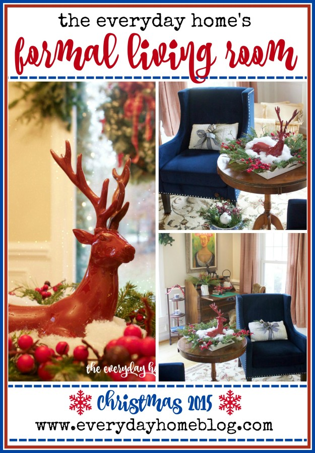 Christmas 2015 Formal Living Room | The Everyday Home | www.everydayhomeblog.com