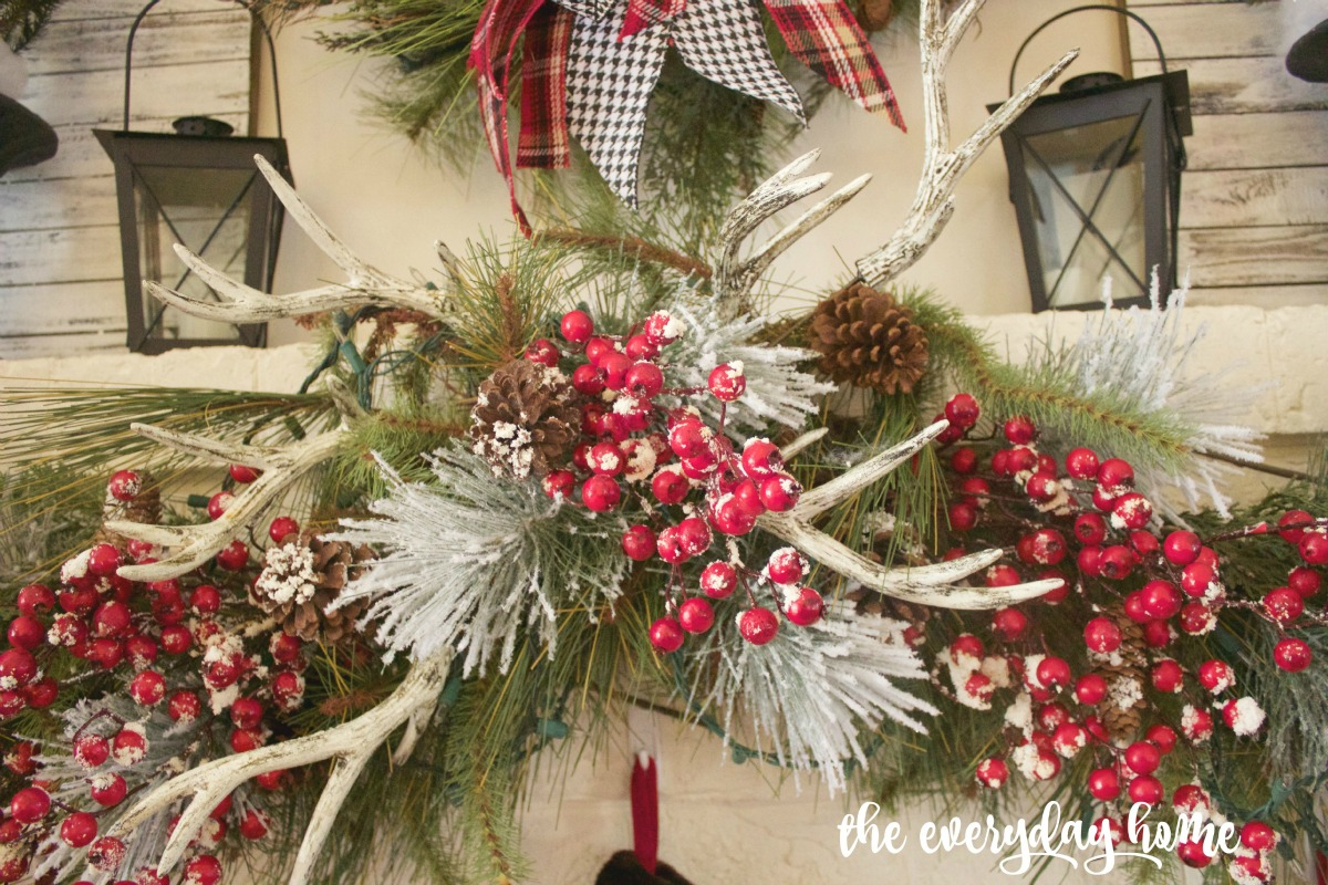 Christmas Mantel Antlers | The Everyday Home | www.everydayhomeblog.com 1200