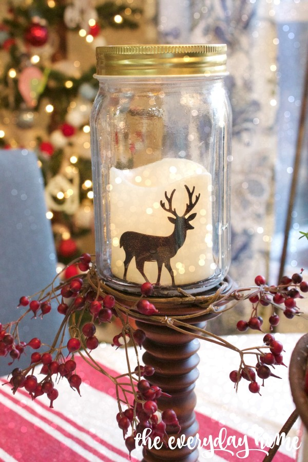 Deer Mason Jar Candles | The Everyday Home | www.everydayhomeblog.com