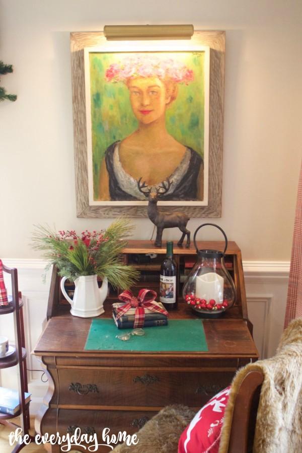 Formal Living Room Desk | The Everyday Home | www.everydayhomeblog.com