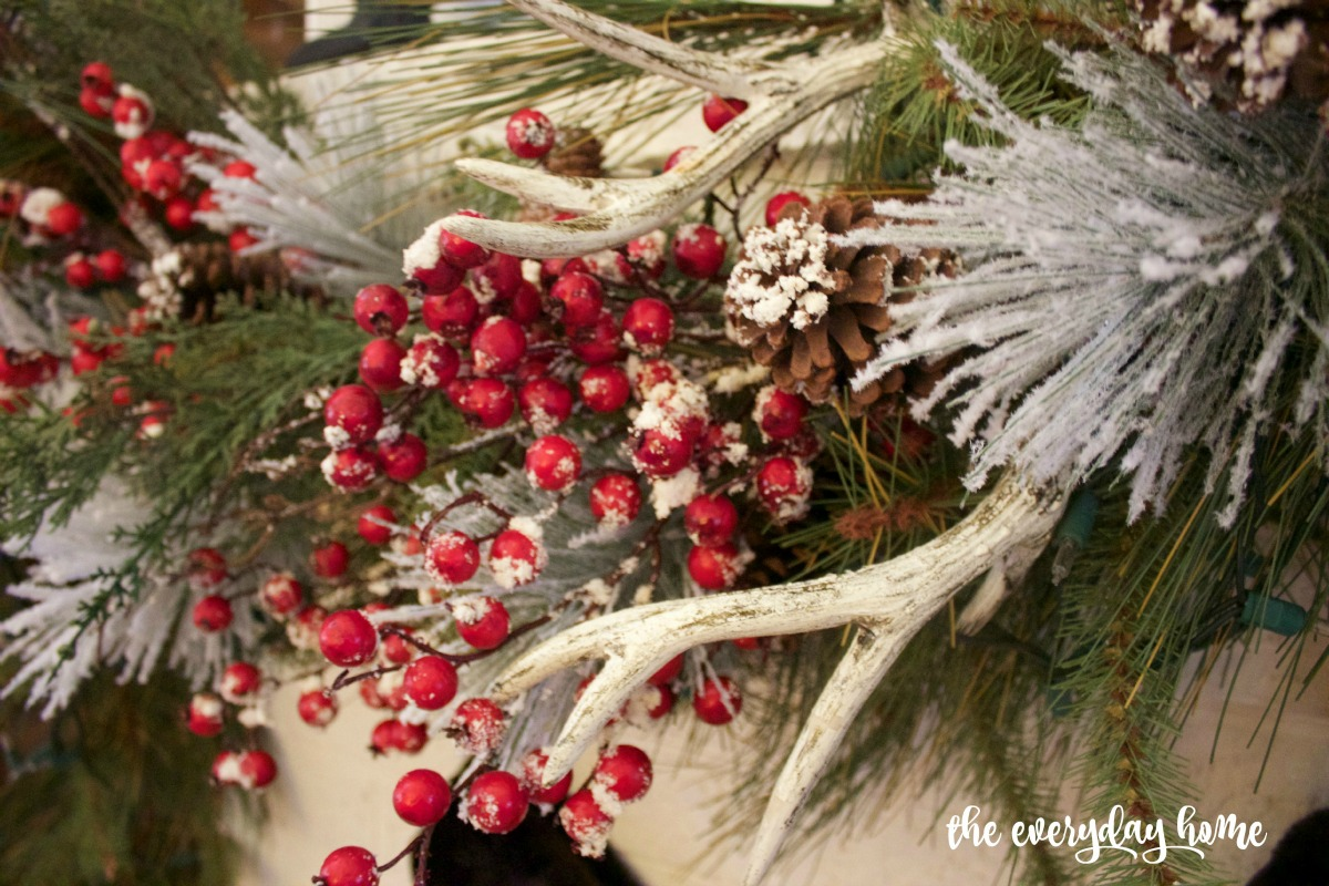 Frosted Berries Christmas Mantel | The Everyday Home | www.everydayhomeblog.com 1200