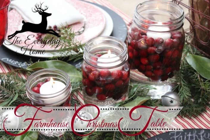 Farmhouse Christmas Tablescape | The Everyday Home | www.everydayhomeblog.com