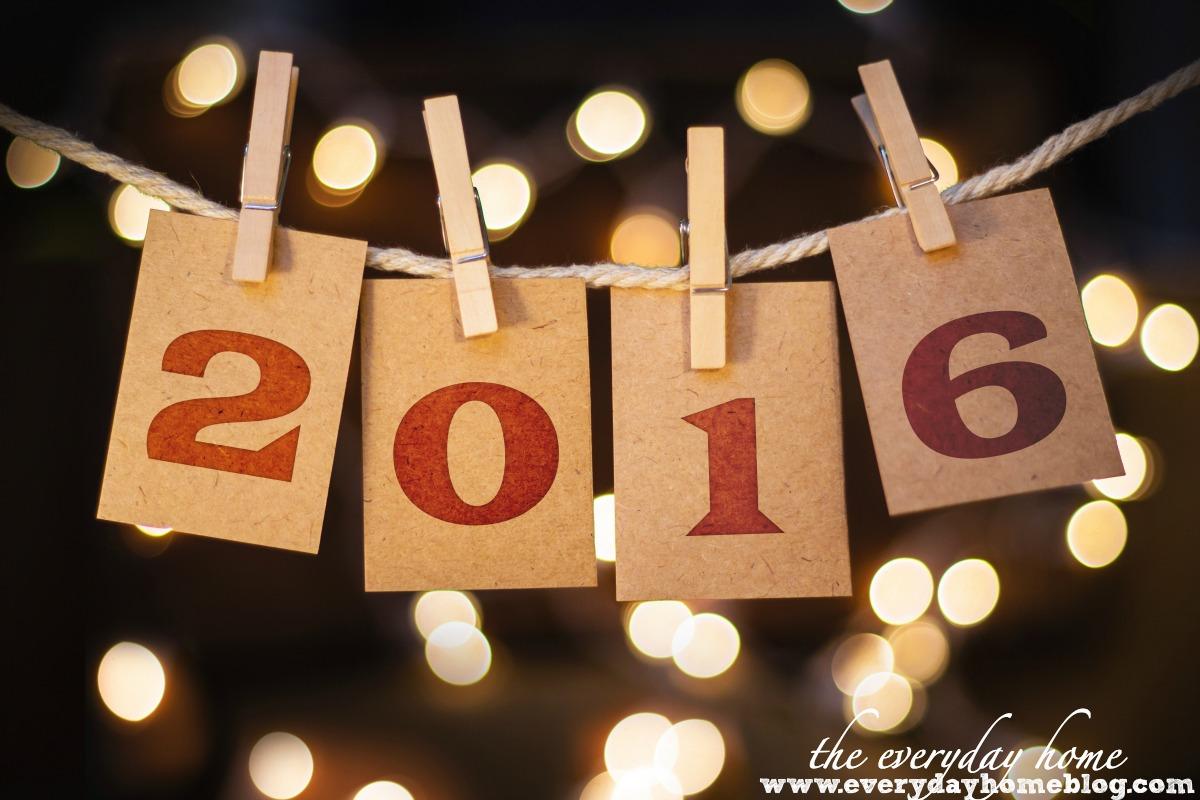 Happy New Year 2016 | The Everyday Home | www.everydayhomeblog.com