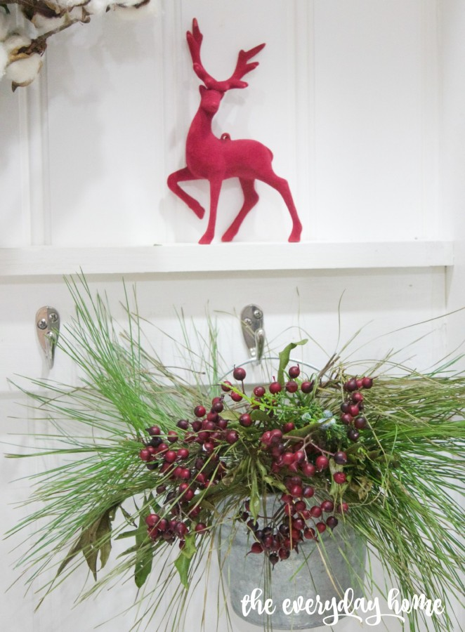 Little Red Deer on Ledge | 2015 Christmas Home Tour | The Everyday Home | www.everydayhomeblog.com