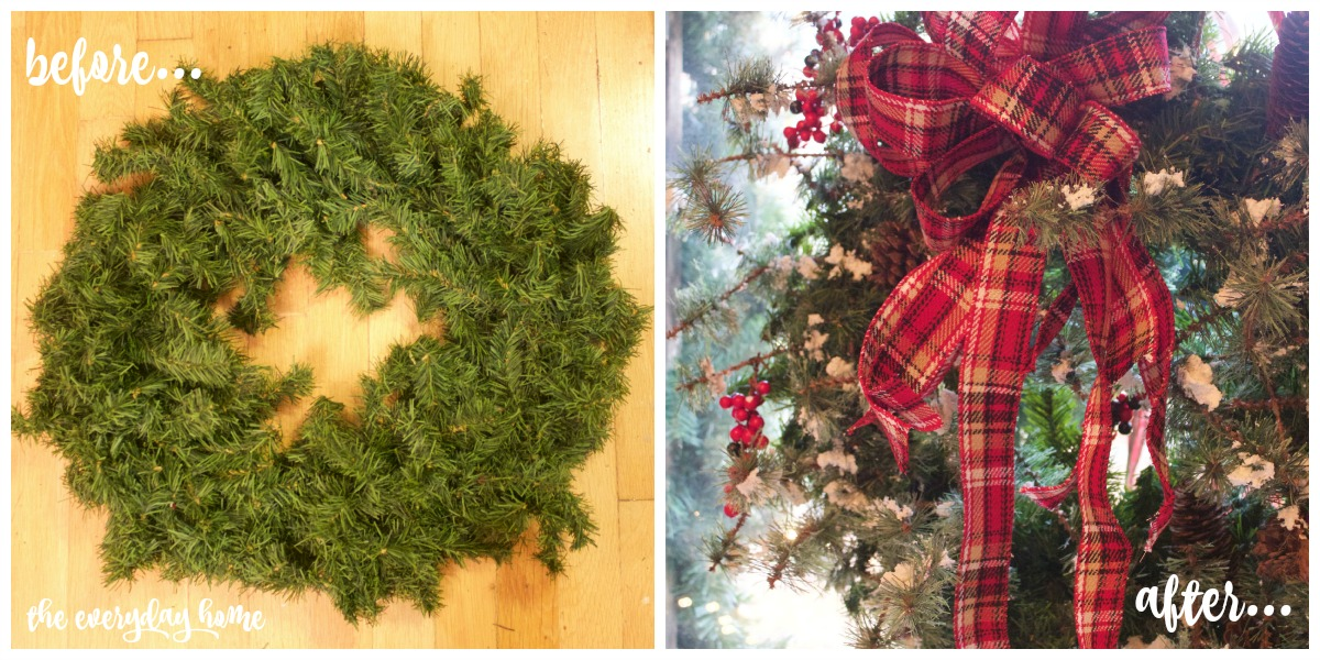 Making an Easy 3-Step Christmas Wreath | The Everyday Home | www.everydayhomeblog.com