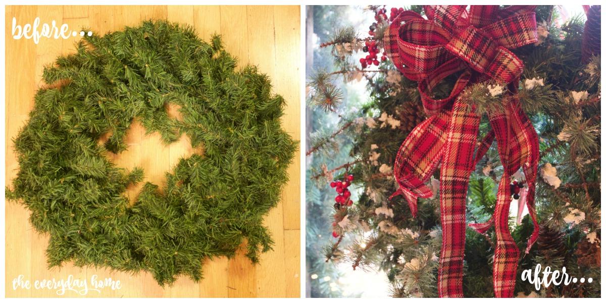 Making an Easy 3-Step Christmas Wreath | The Everyday Home | www.everydayhomeblog.com