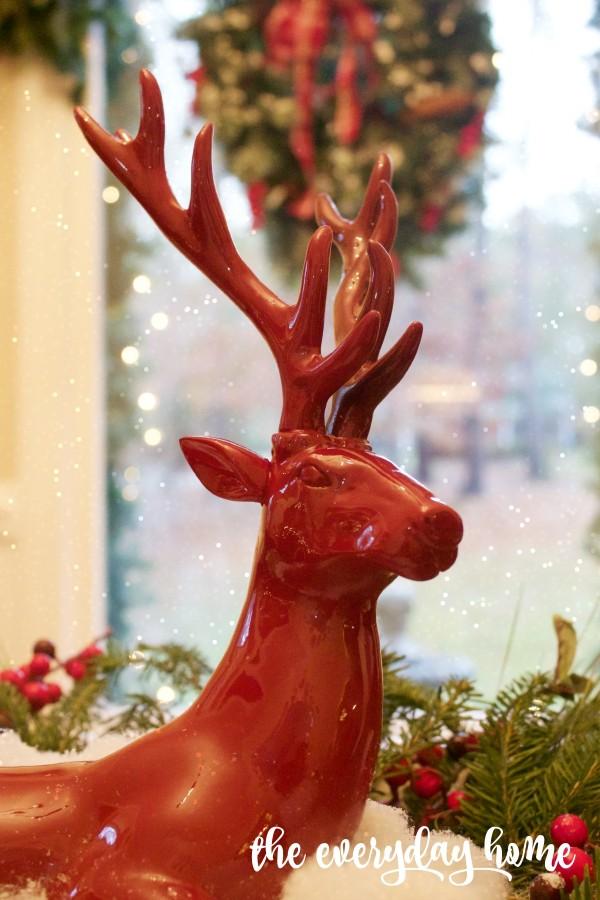 Red Christmas Stag | The Everyday Home | www.everydayhomeblog.com