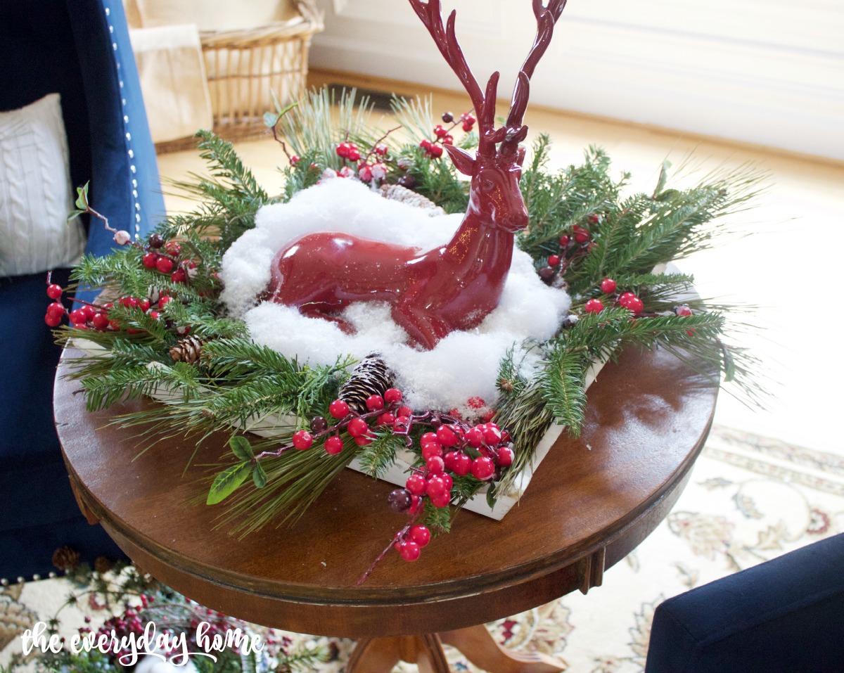 Red Stag Centerpiece | The Everyday Home | www.everydayhomeblog.com
