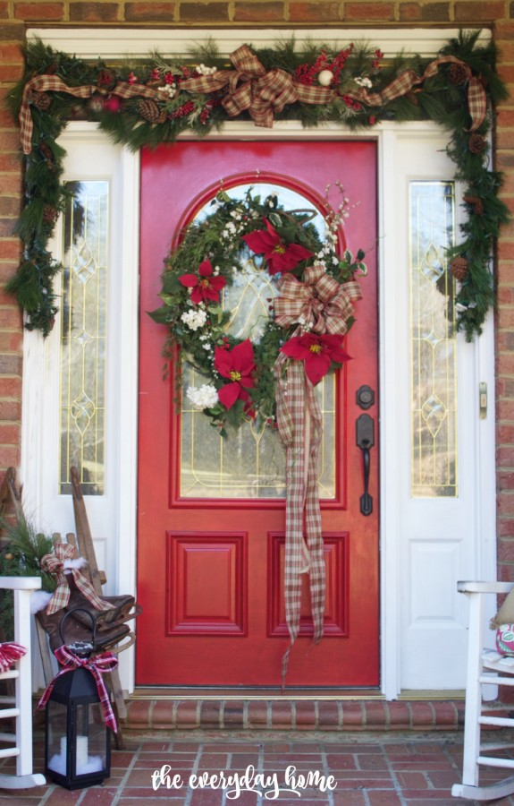 Southern Home Red Door For Christmas | 2015 Christmas Home Tour | The  Everyday Home |