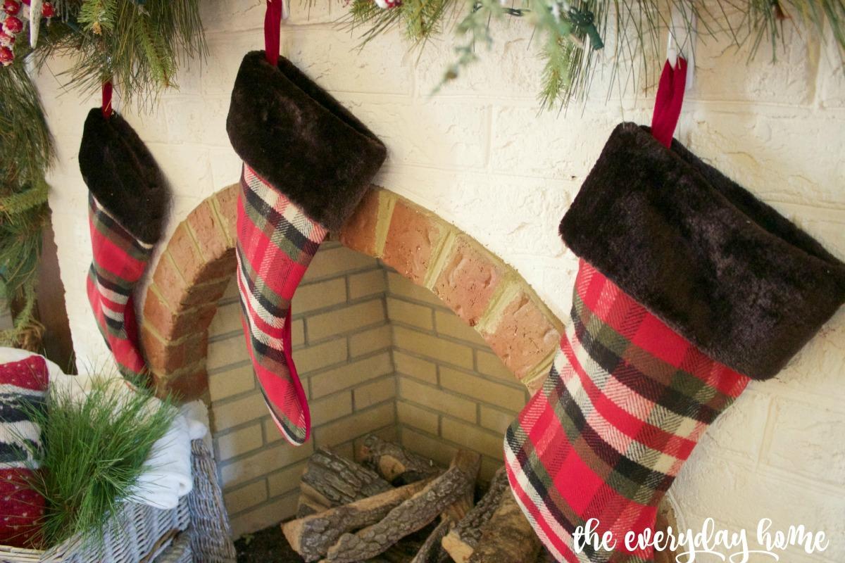 Tartan Christmas Stockings | The Everyday Home | www.everydayhomeblog.com 1200