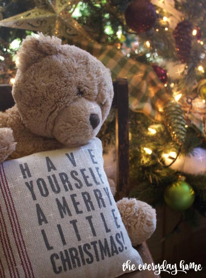 Teddy Bear Christmas   2015 Christmas Home Tour   The Everyday Home   www.everydayhomeblog.com