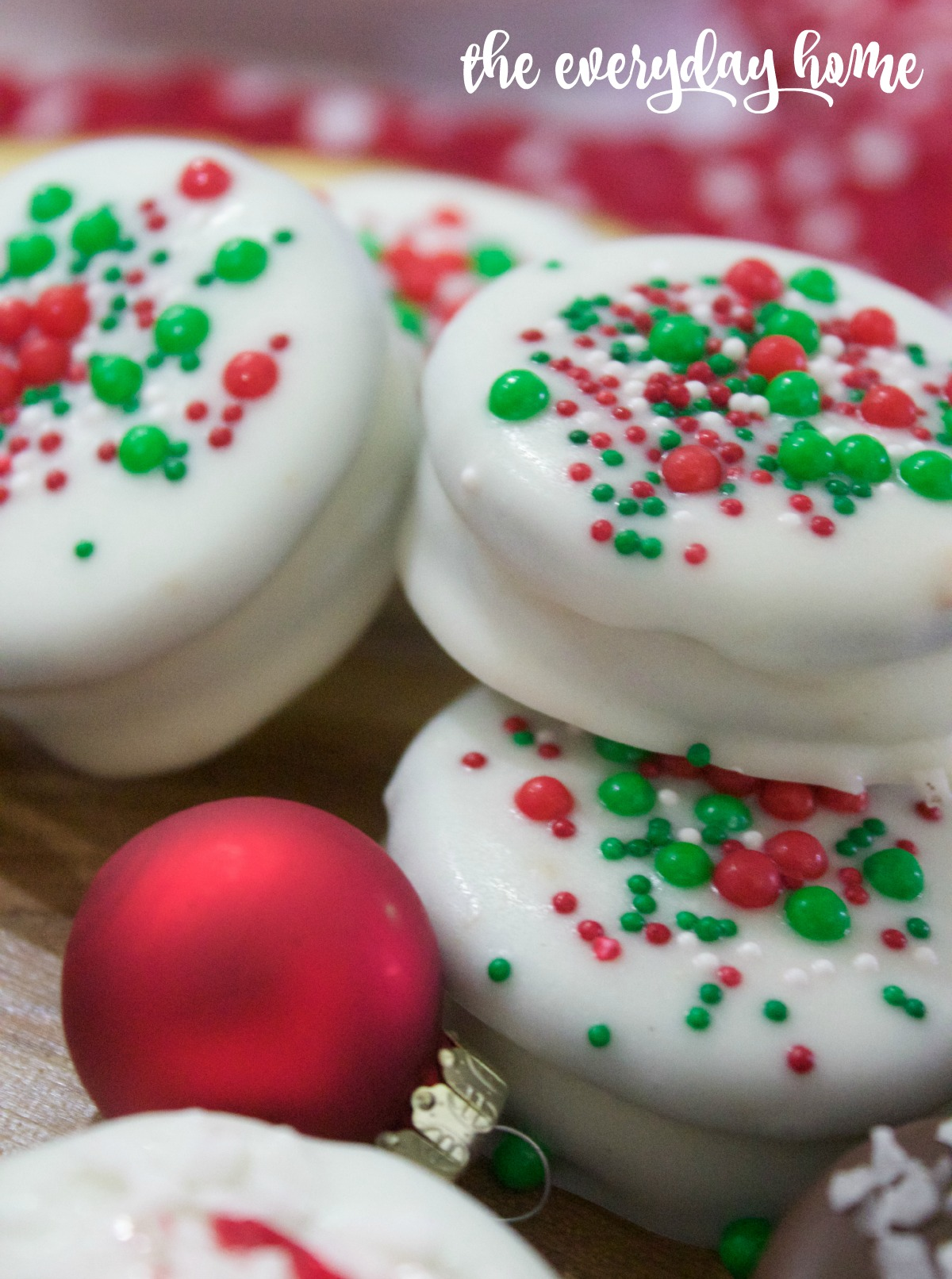 White Chocolate Covered Oreos with Sprinkles   2015 Christmas Cookie Exchange   The Everyday Home   www.everydayhomeblog.com