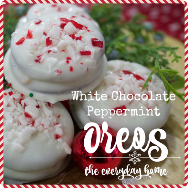 Chocolate Covered Peppermint Oreos The Everyday Home