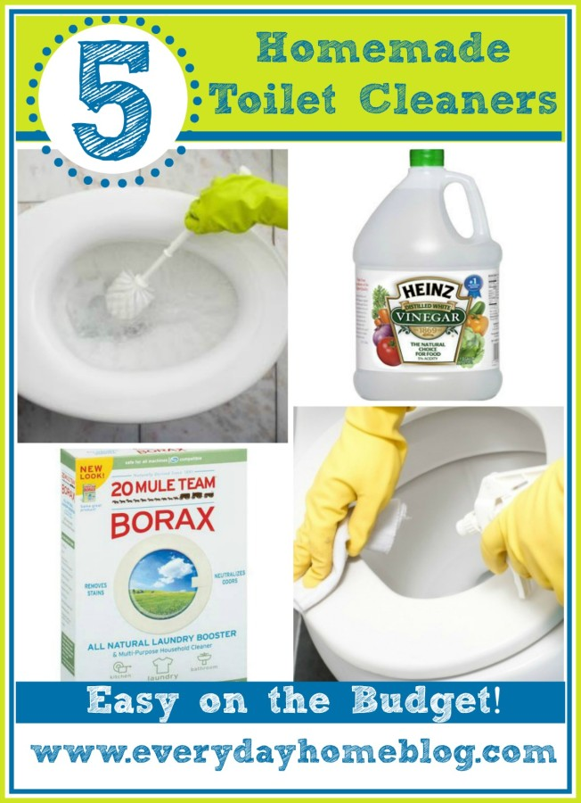 5 Homemade Toilet Cleaners | The Everyday Home | www.everydayhomeblog.com