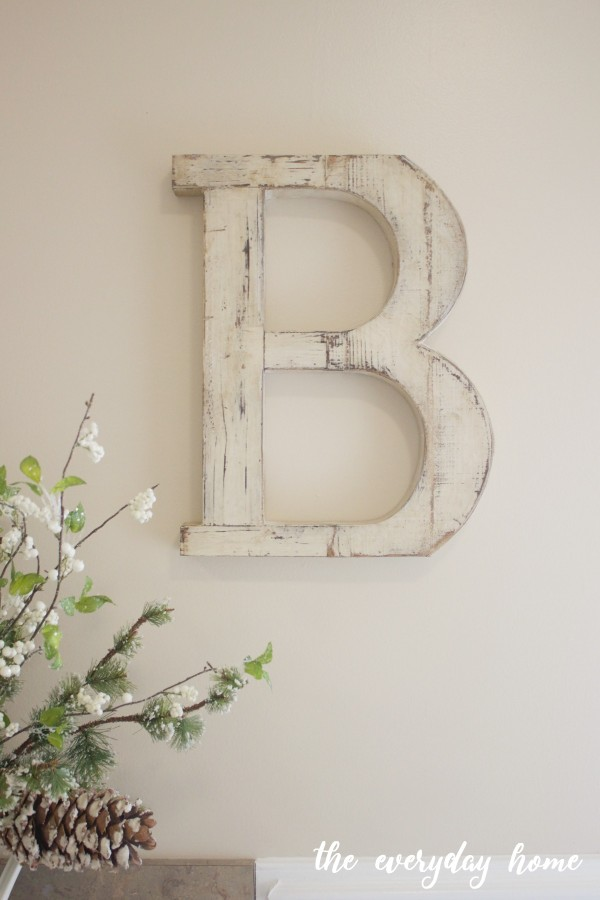 B Wood Letter | The Everyday Home
