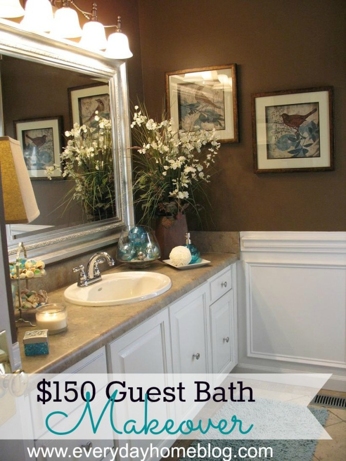 Guest bathroom design plan the everyday home Redesigning small bathrooms