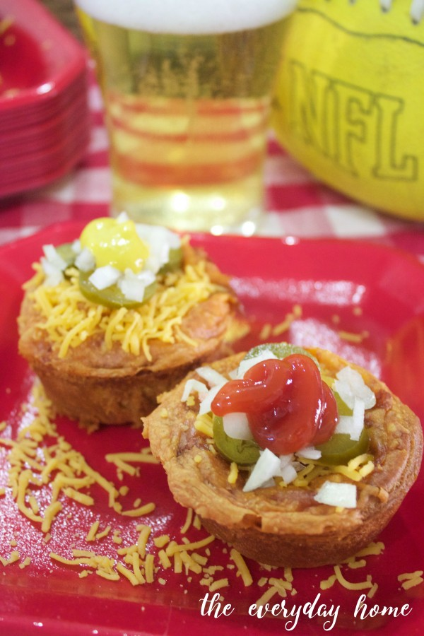 Chili Cheese Dog Cups | The Everyday Home | www.everydayhomeblog.com